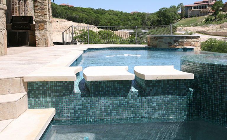 Limestone Pool Coping and Decking