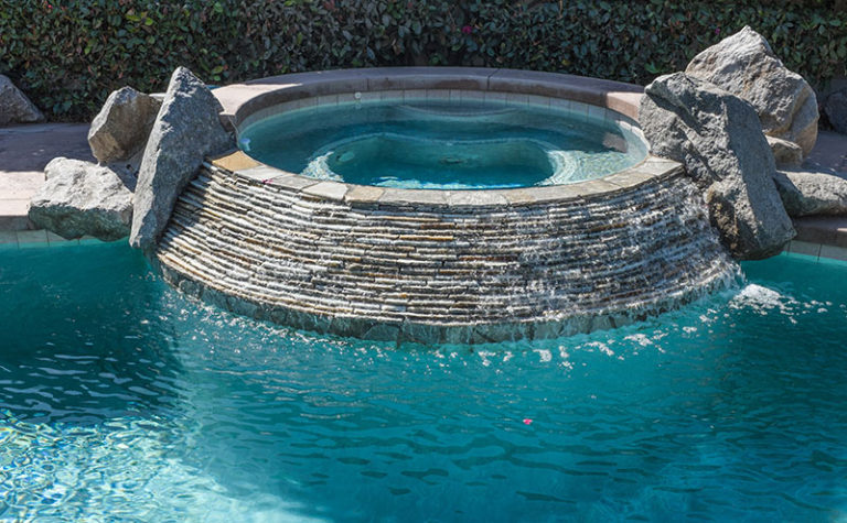 Natural Stone Pool Accents