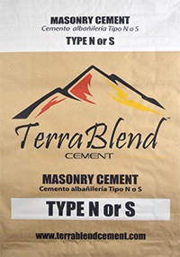 Terra Blend Type N or S Masonry Cement