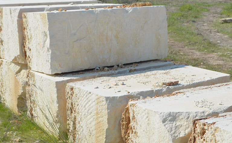 oversized limestone blocks